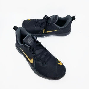 Nike Mens Fly By Low Black Gold Size 7.5 Lace Up